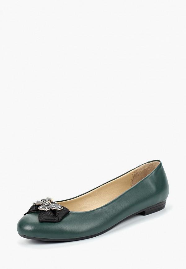 женские балетки alessio nesca, зеленые