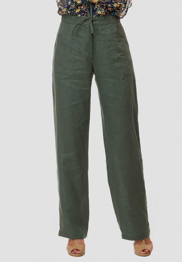 женские прямые брюки gabriela, зеленые