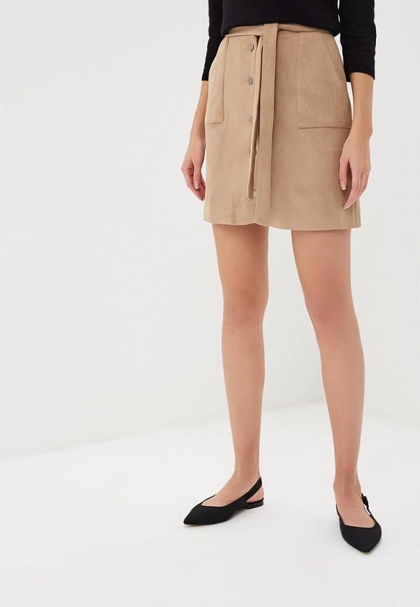 женская прямые юбка zerkala, бежевая