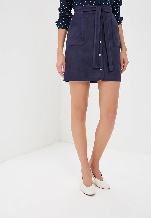 женская прямые юбка zerkala, синяя