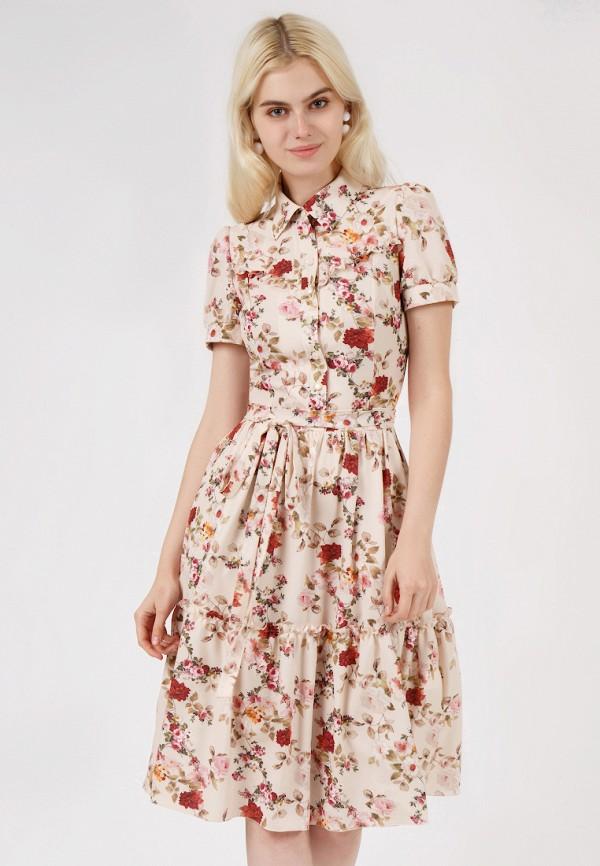 женское платье marichuell, бежевое
