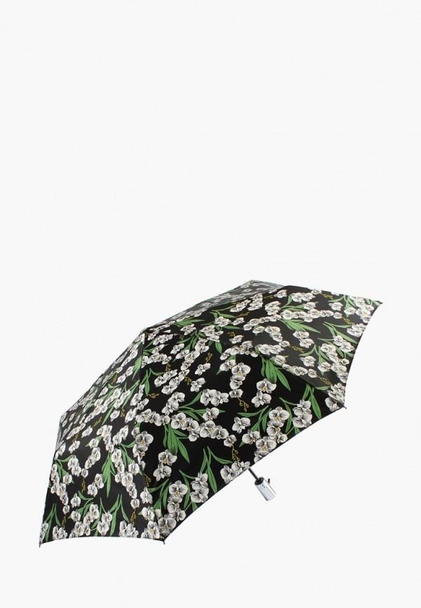 женский складные зонт edmins, черный