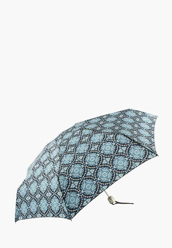 женский складные зонт edmins, голубой