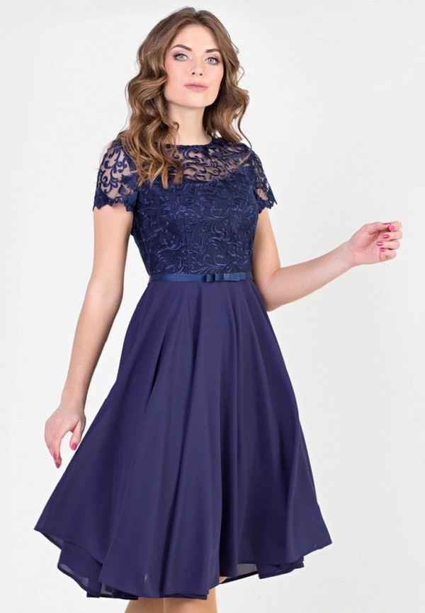 Фото - Женское вечернее платье Filigrana синего цвета