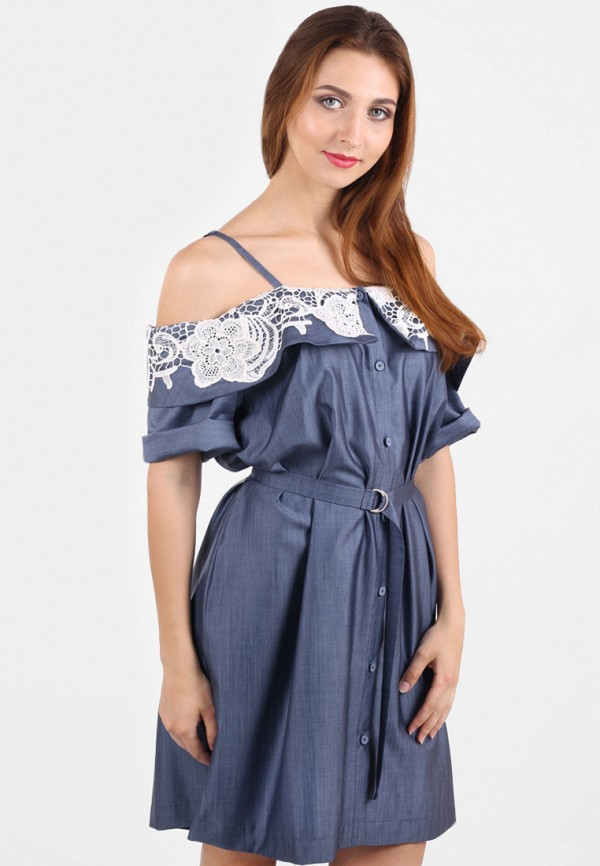 женское платье мини panove, синее
