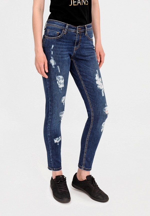 женские джинсы бойфренд f5, синие