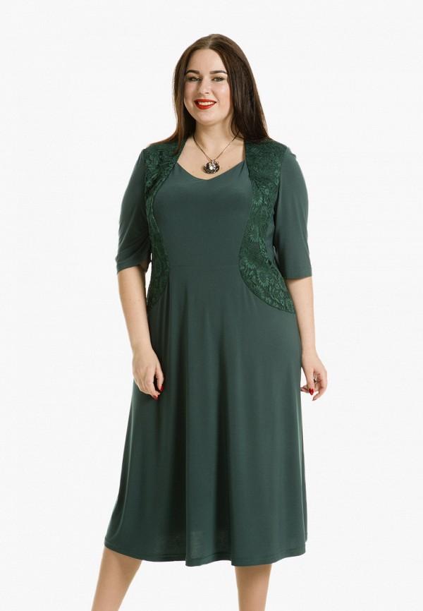 женское платье luxury plus, зеленое