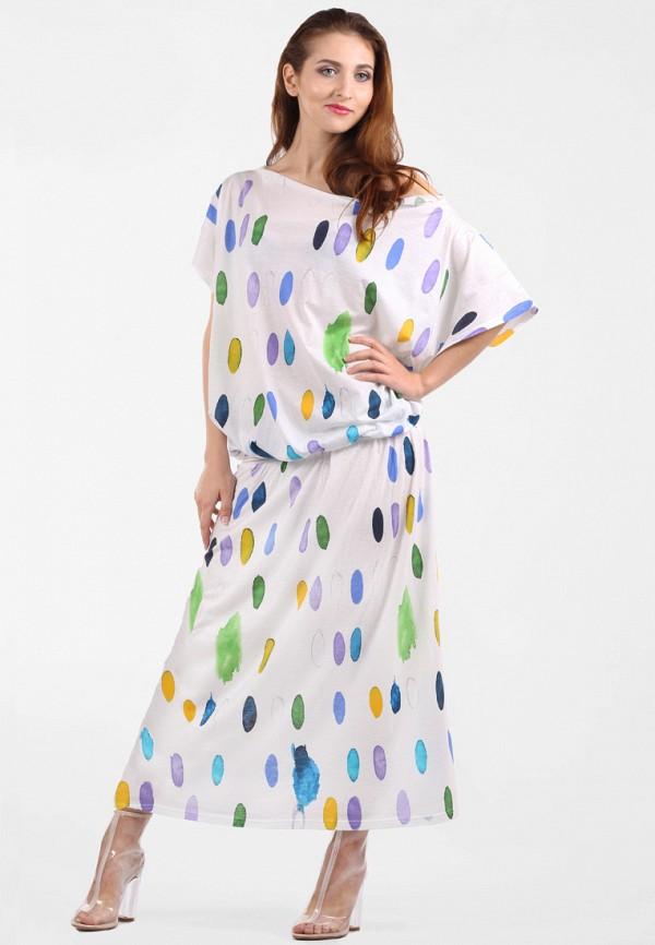 женское повседневные платье panove, белое