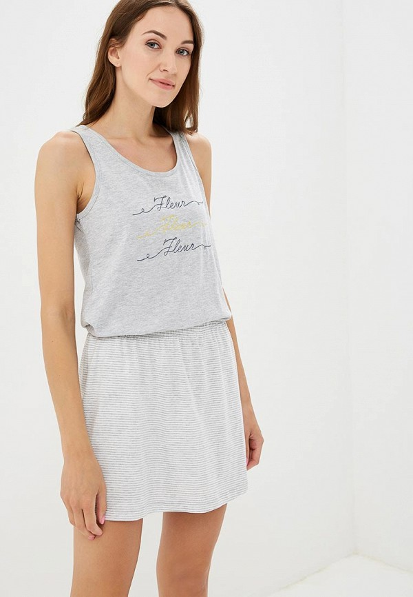 Купить Платье домашнее Deseo, MP002XW19BGB, серый, Весна-лето 2018