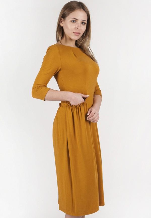женское повседневные платье vergans, оранжевое