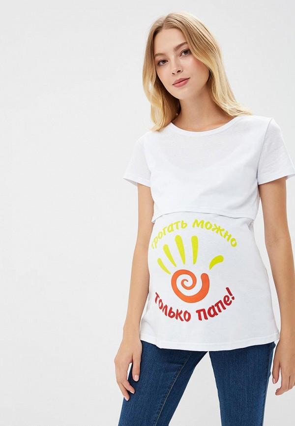 женская футболка с коротким рукавом hunny mammy, белая