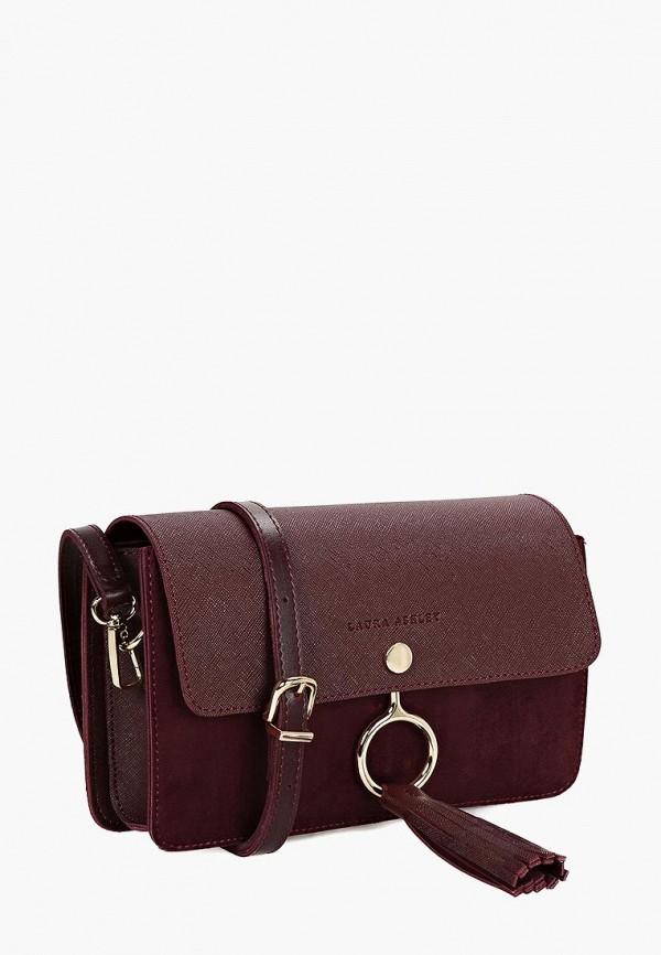 женская сумка laura ashley, бордовая
