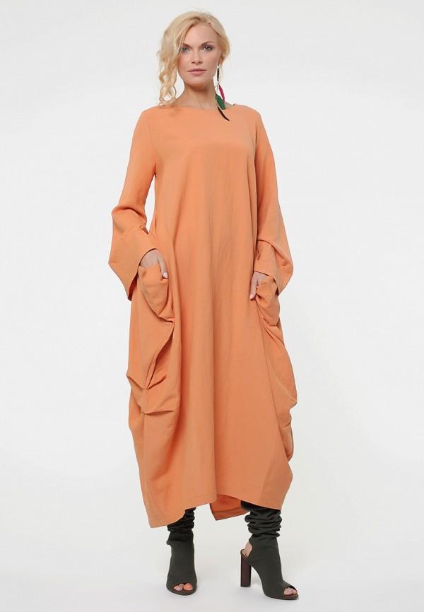 женское повседневные платье kata binska, оранжевое