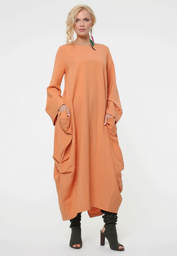 Купить Платье Kata Binska, BRET, MP002XW19CT9, оранжевый, Осень-зима 2018/2019