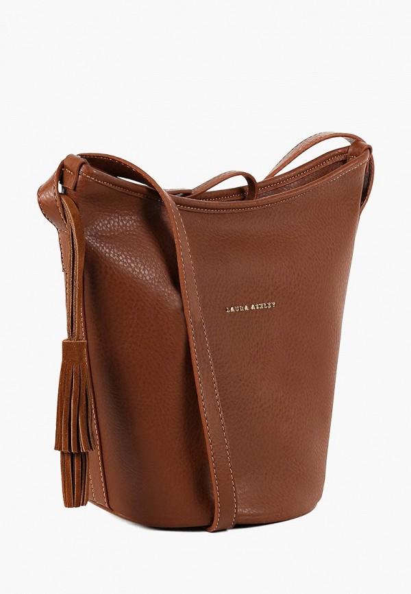 женская сумка laura ashley, коричневая