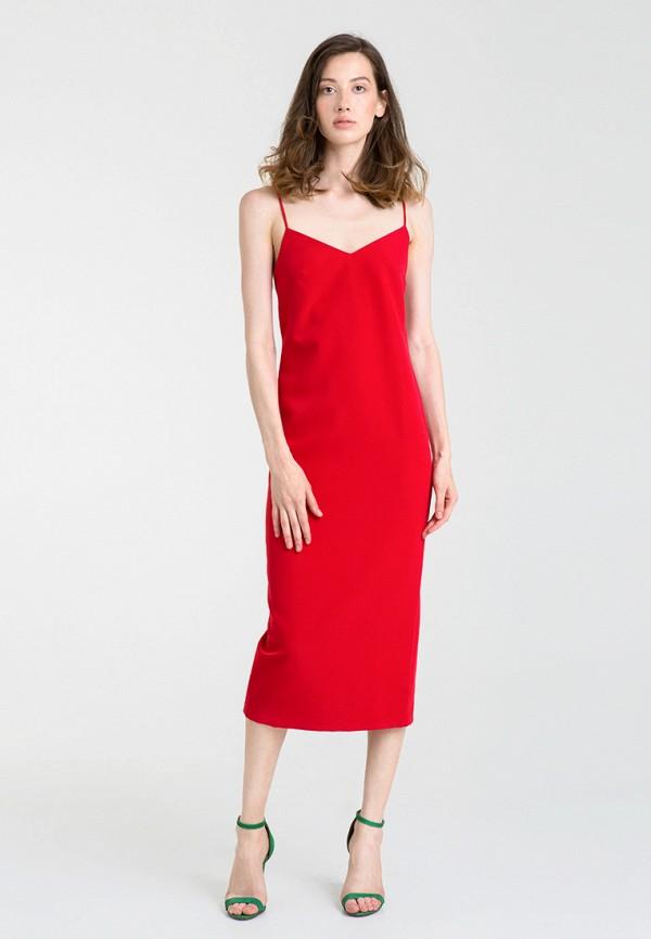 женское платье magnetic, красное