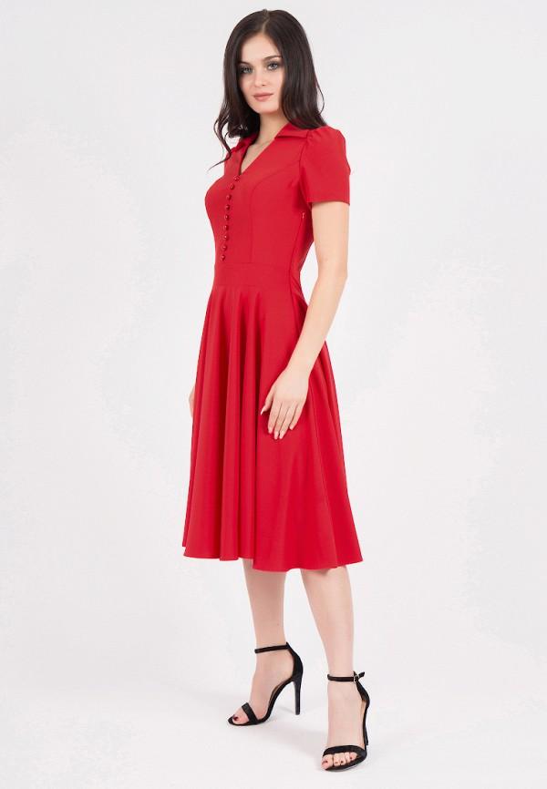Фото 2 - Платье Grey Cat красного цвета
