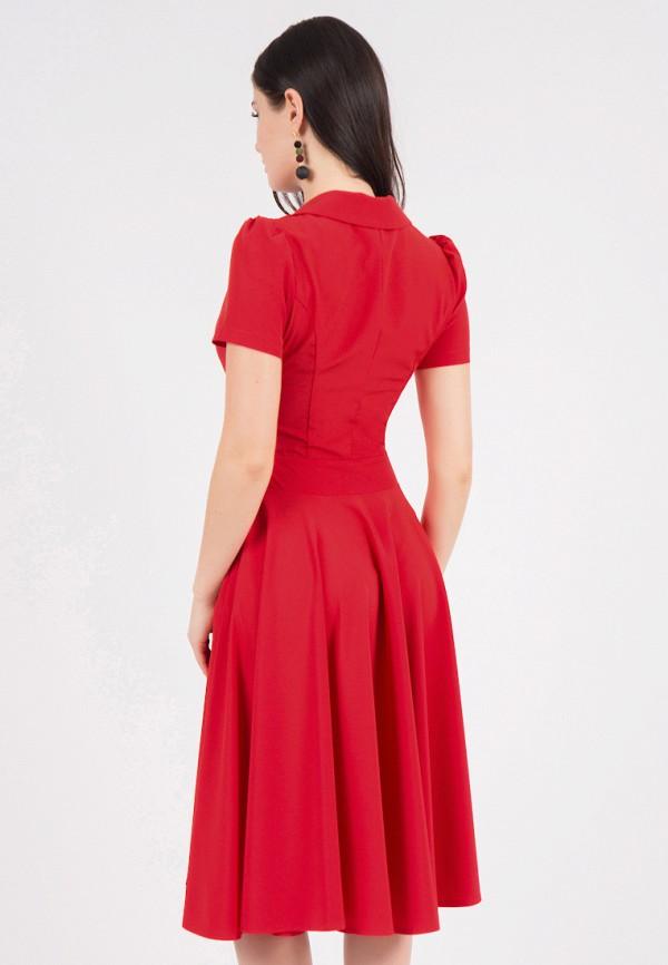 Фото 3 - Платье Grey Cat красного цвета
