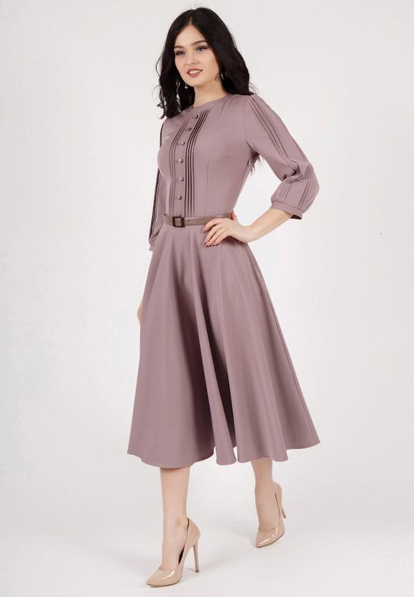Фото 2 - Платье Grey Cat фиолетового цвета