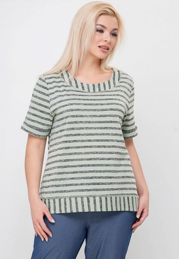 женская футболка limonti, зеленая