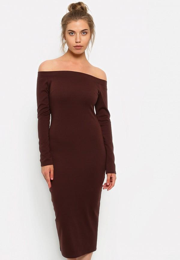 Купить Платье Malaeva, mp002xw19dhg, коричневый, Весна-лето 2019