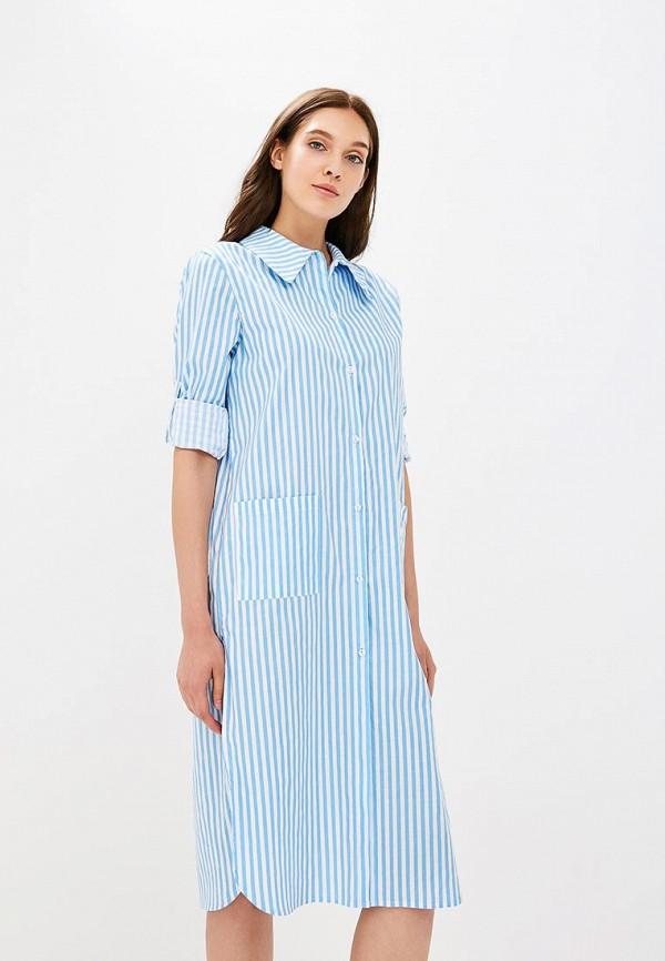 женская рубашка с длинным рукавом nemes, голубая