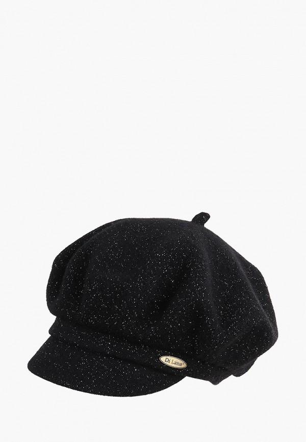 женская кепка di lana, черная