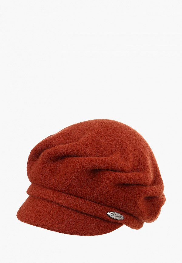 женская кепка di lana, коричневая