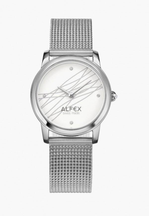 женские часы alfex, серебряные