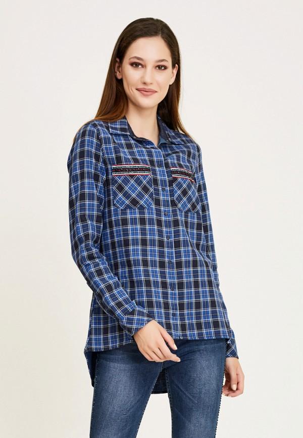 женская рубашка с длинным рукавом dshe, синяя