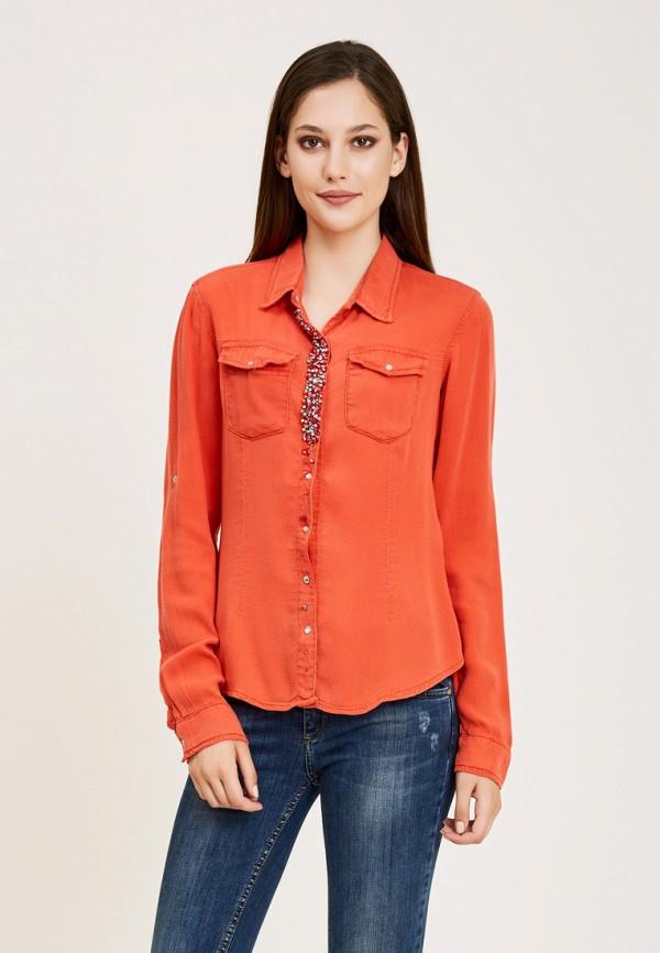 женская рубашка с длинным рукавом dshe, красная