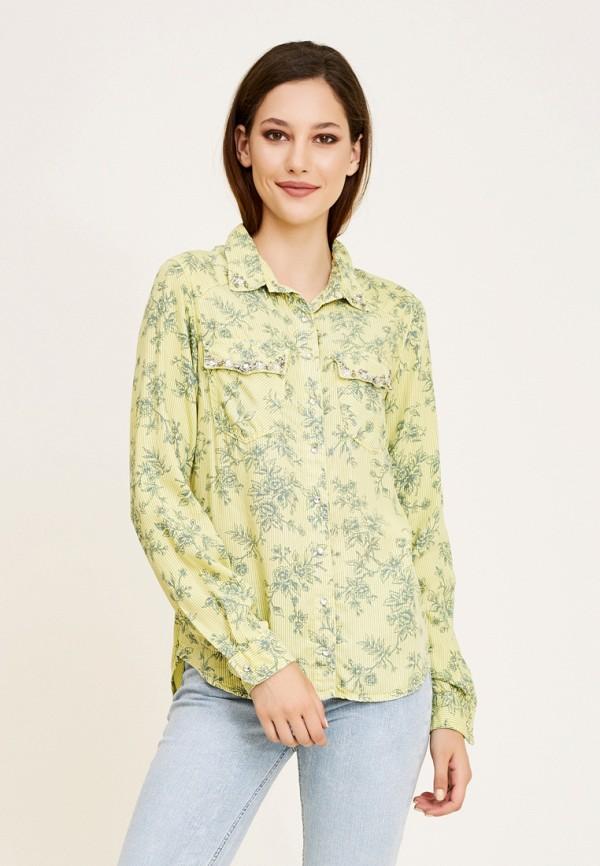 женская рубашка с длинным рукавом dshe, желтая