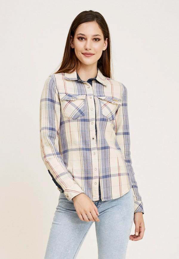 женская рубашка с длинным рукавом dshe, бежевая