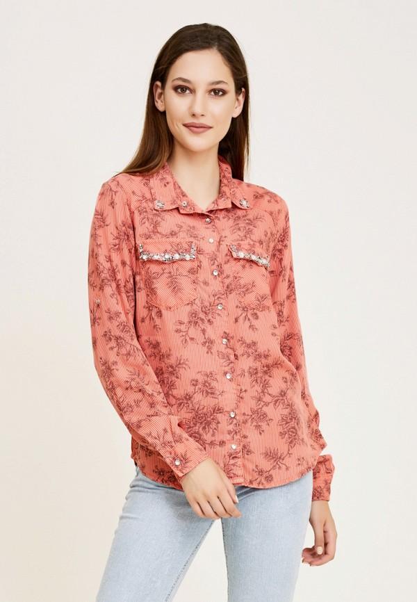 женская рубашка с длинным рукавом dshe, розовая