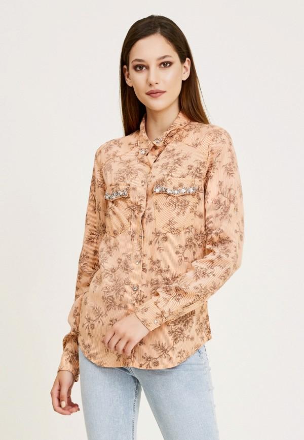 женская рубашка с длинным рукавом dshe, оранжевая