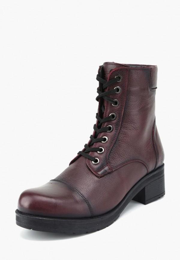женские ботинки airbox, бордовые