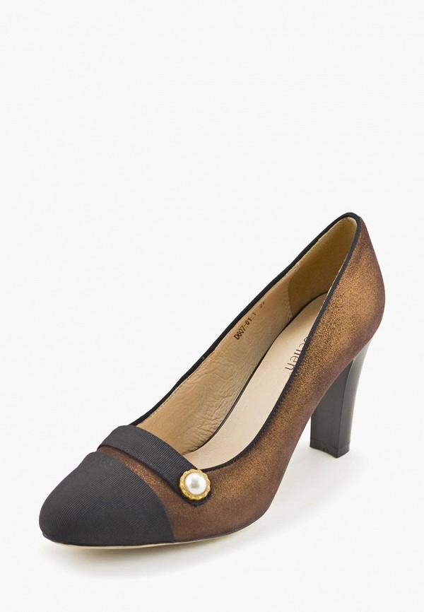 женские туфли libellen, коричневые