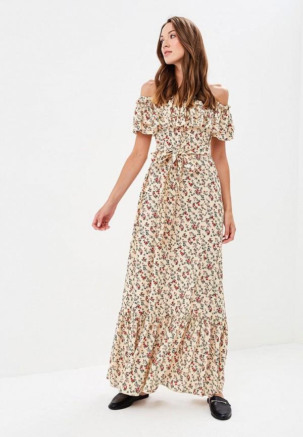 женское повседневные платье olga skazkina, бежевое