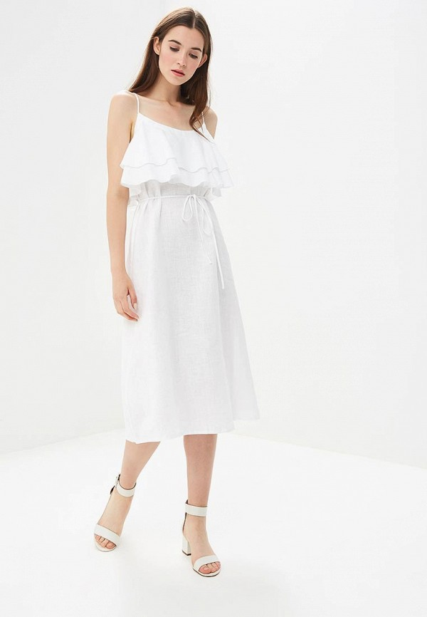 женское повседневные платье olga skazkina, белое