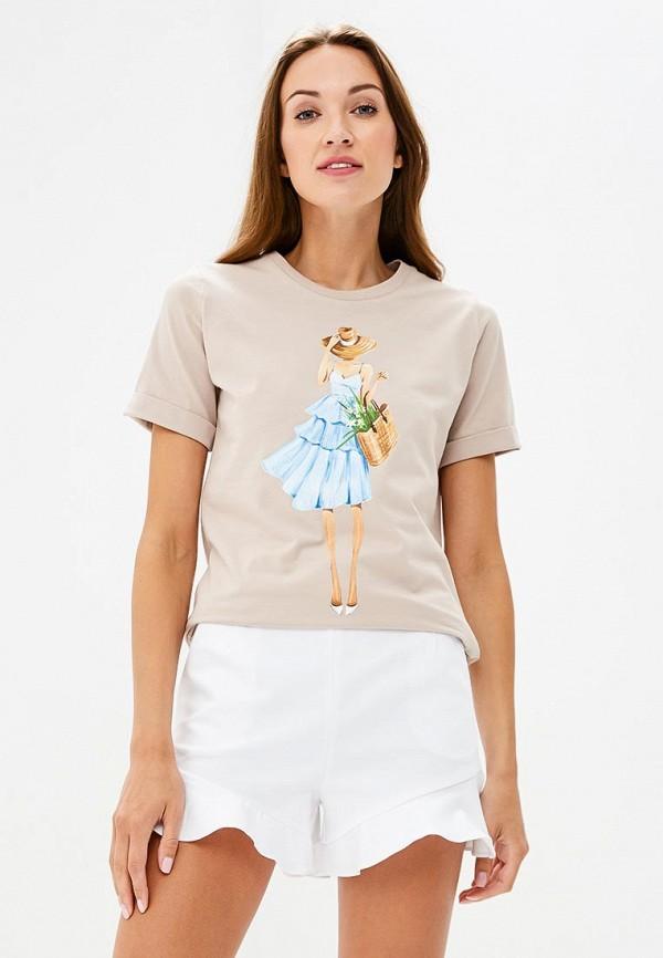 Купить Футболка Fashion.Love.Story, mp002xw19gdn, бежевый, Весна-лето 2018