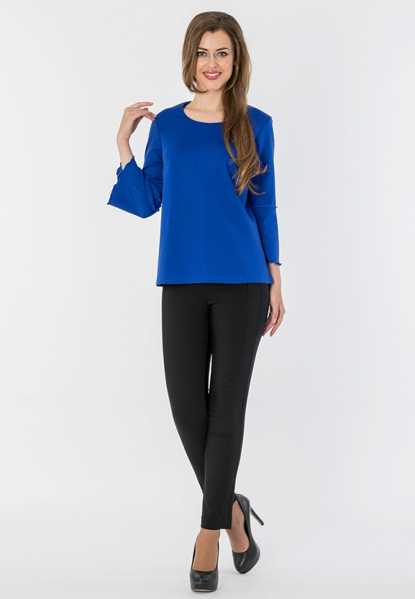 Фото 2 - Лонгслив S&A Style синего цвета