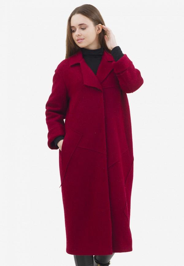 женское пальто pavel yerokin, бордовое