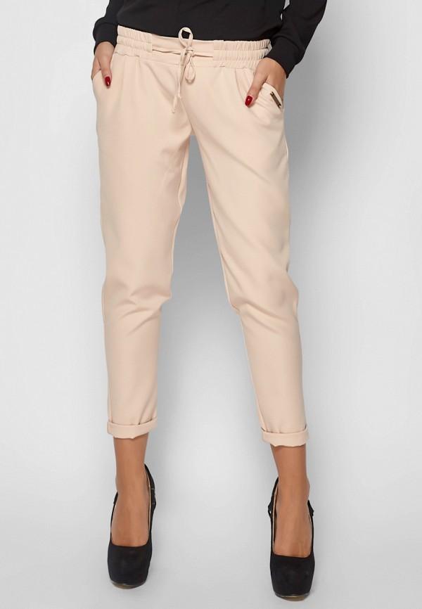 женские зауженные брюки karree, бежевые