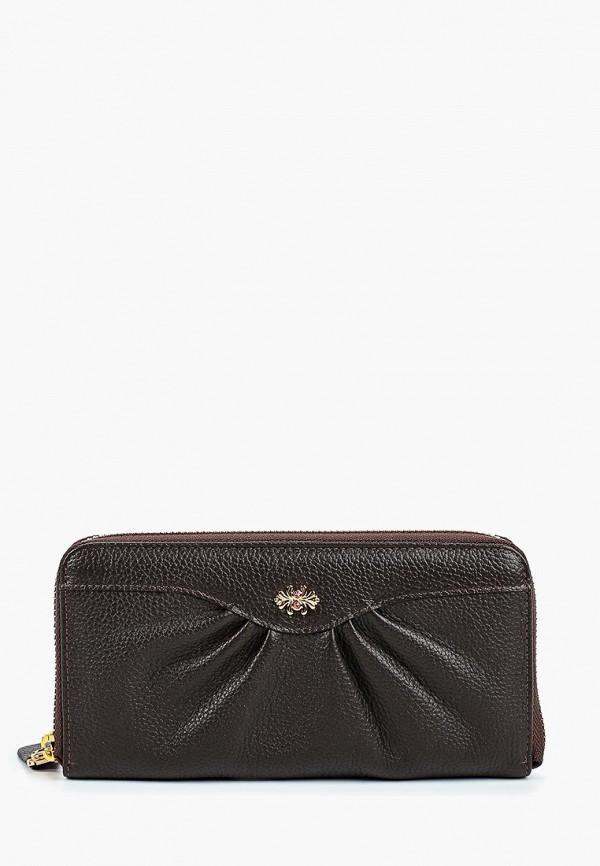 женский кошелёк franchesco mariscotti, коричневый
