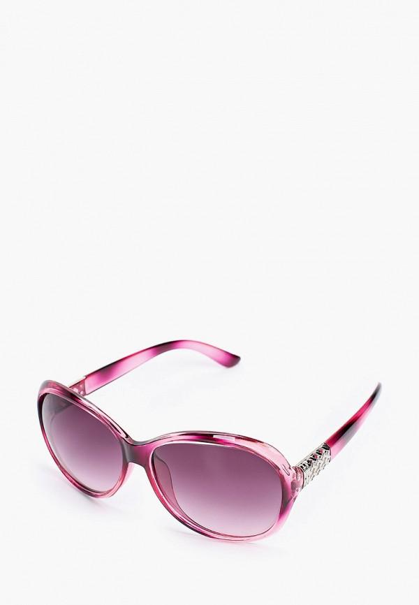 женские круглые солнцезащитные очки красная жара, фиолетовые