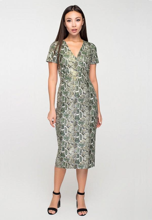 женское повседневные платье elena pokalitsina, зеленое
