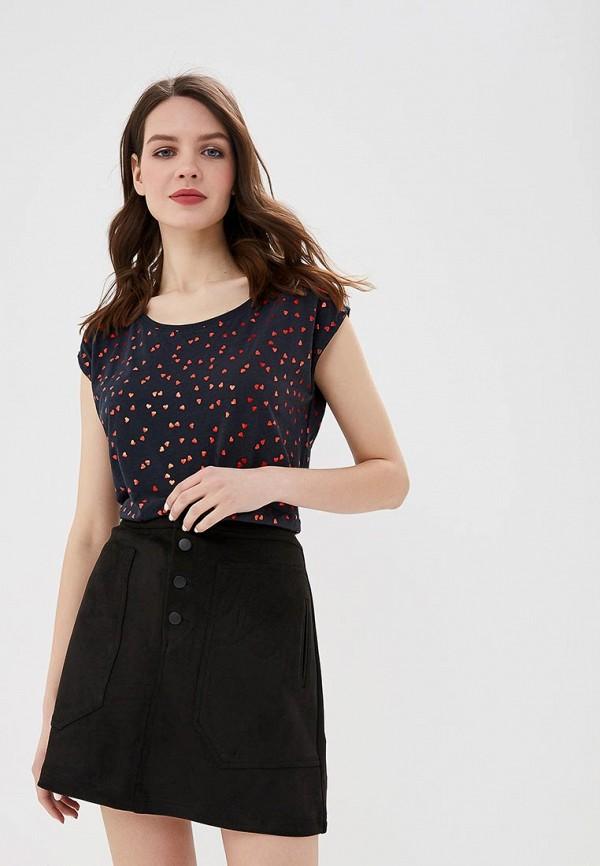 женская футболка top secret, черная