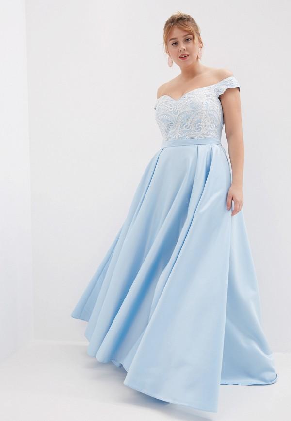 женское платье milomoor, голубое