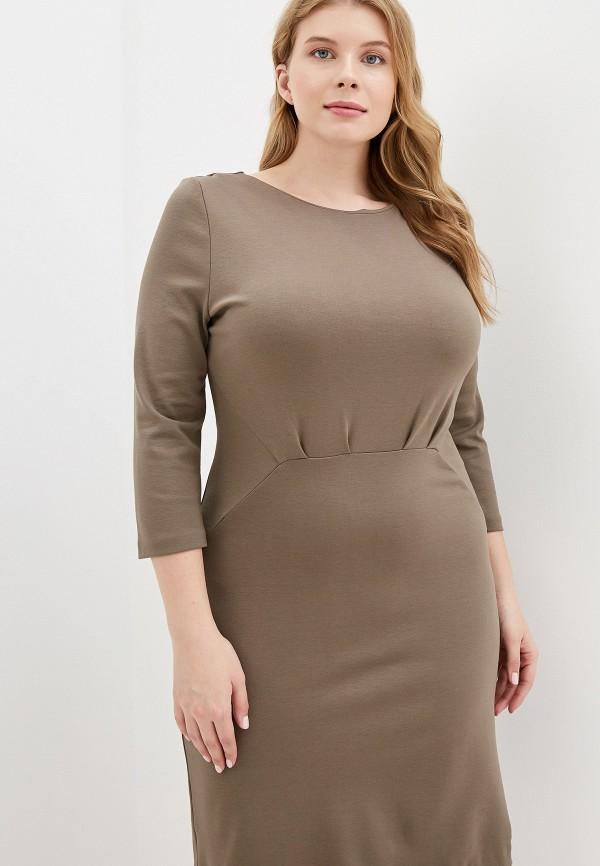 женское платье colletto bianco, хаки