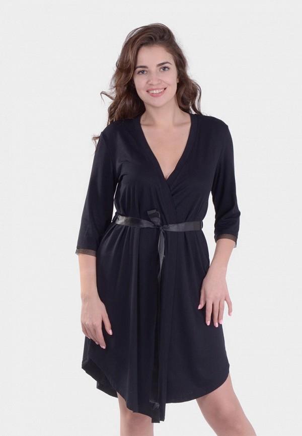 женский халат n.el, черный